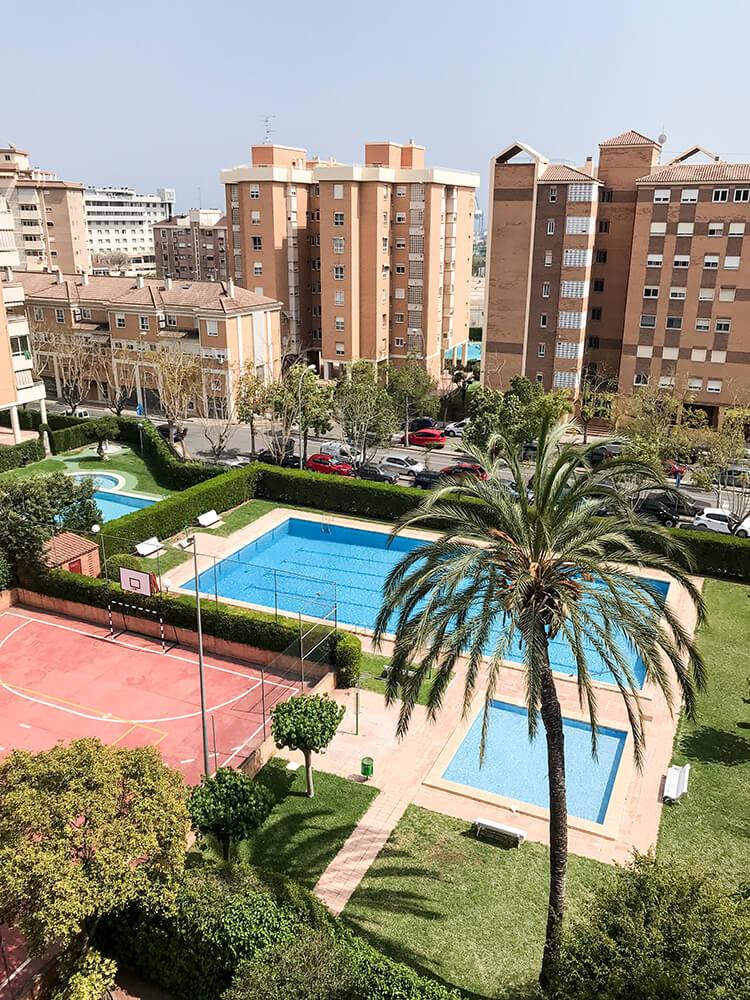 Blick von der WG in Alicante