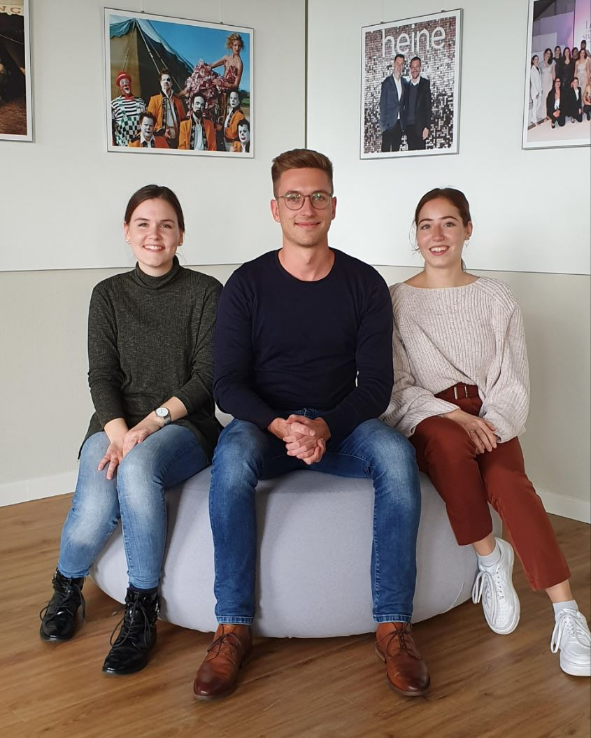 v. l. n. r.: Christina, Max und Jana