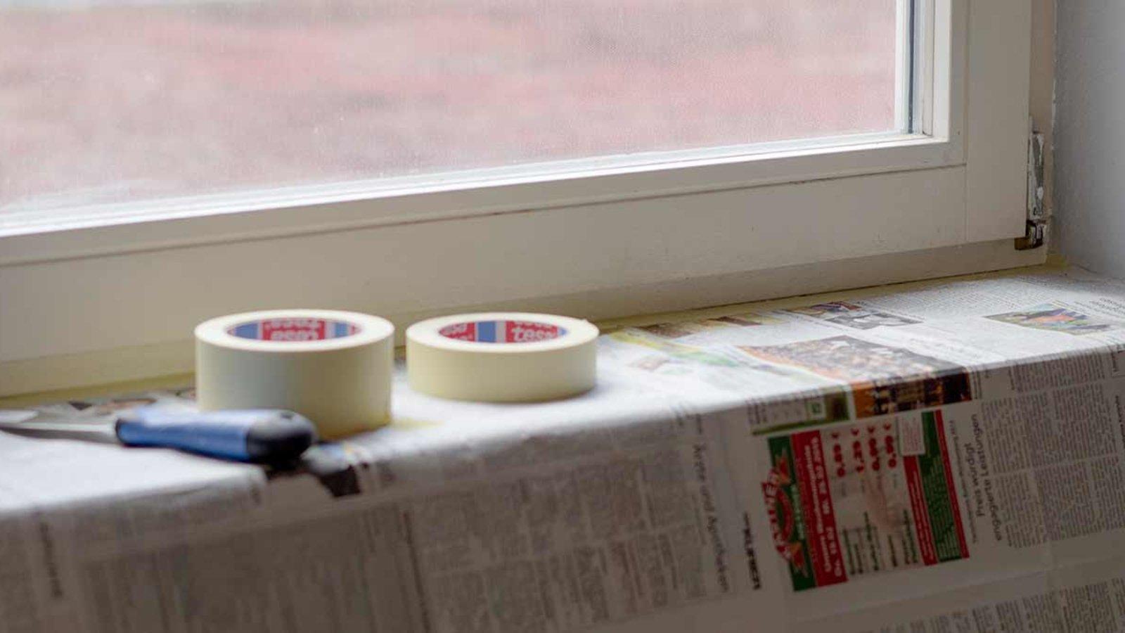 DIY Holzfenster streichen