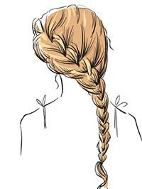 Skizze Frisur 1