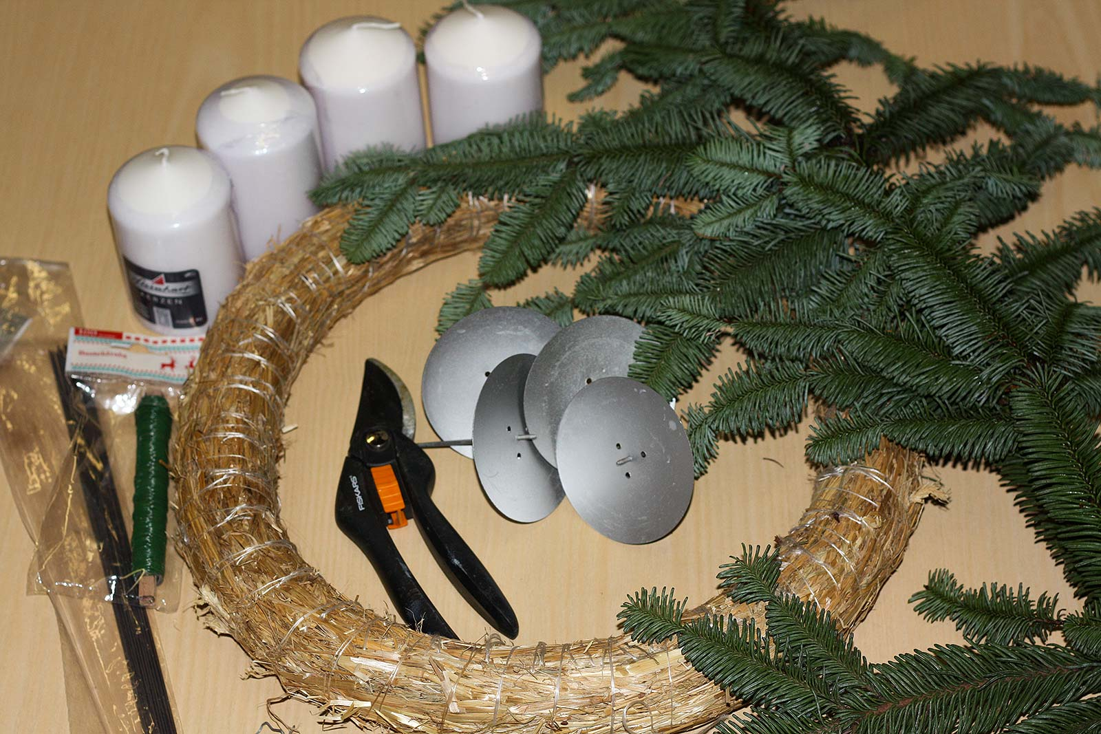 DIY-Adventskranz | Materialien