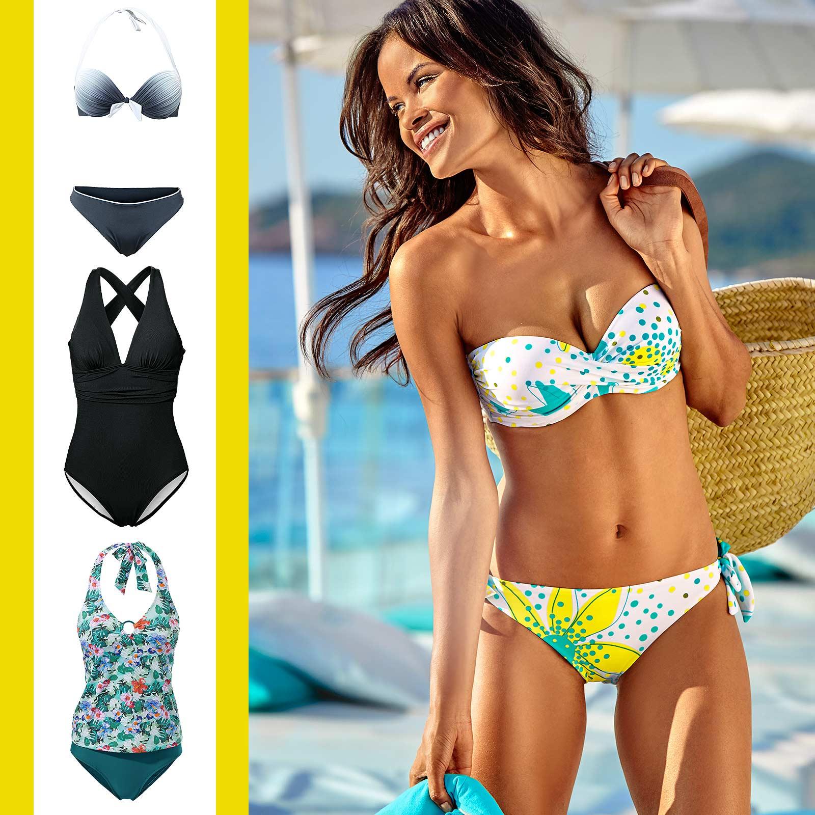 Bikini oder Badeanzug