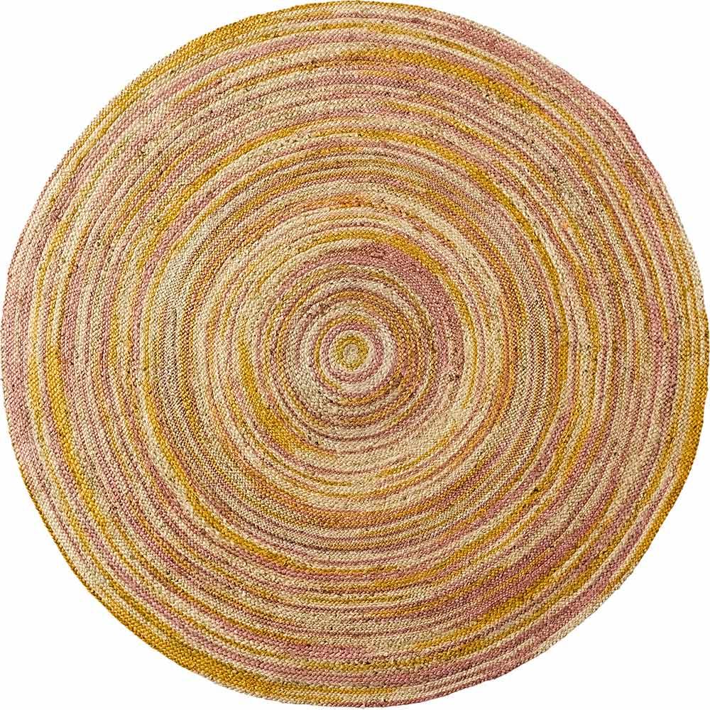 Handgearbeiteter und flachgewebter Teppich aus reiner Jute