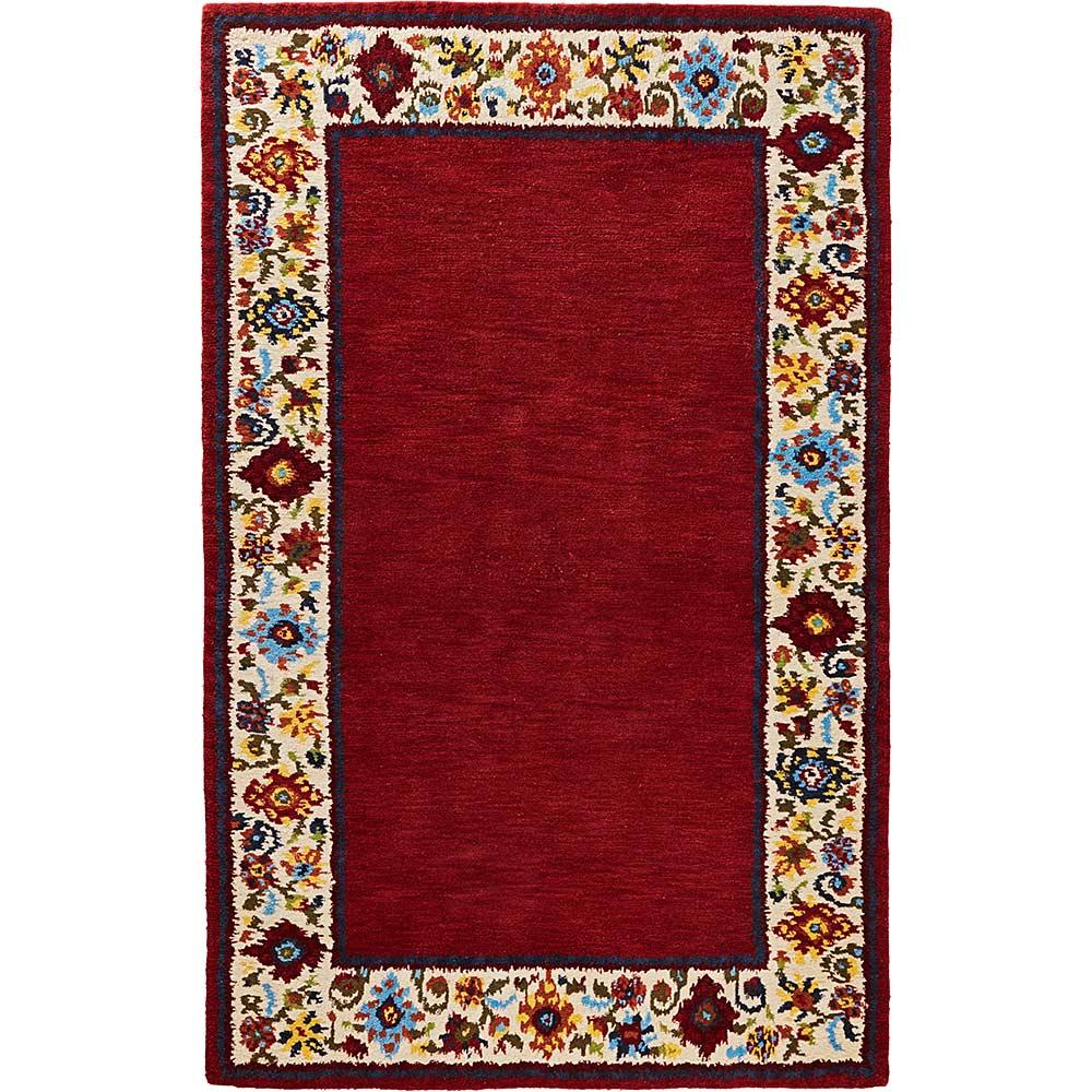 Handgearbeiteter Hochflor-Teppich aus reiner Schurwolle mit ca.12mm Florhöhe