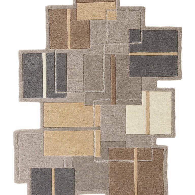 Handgearbeiteter Hochflor-Teppich aus reiner Wolle