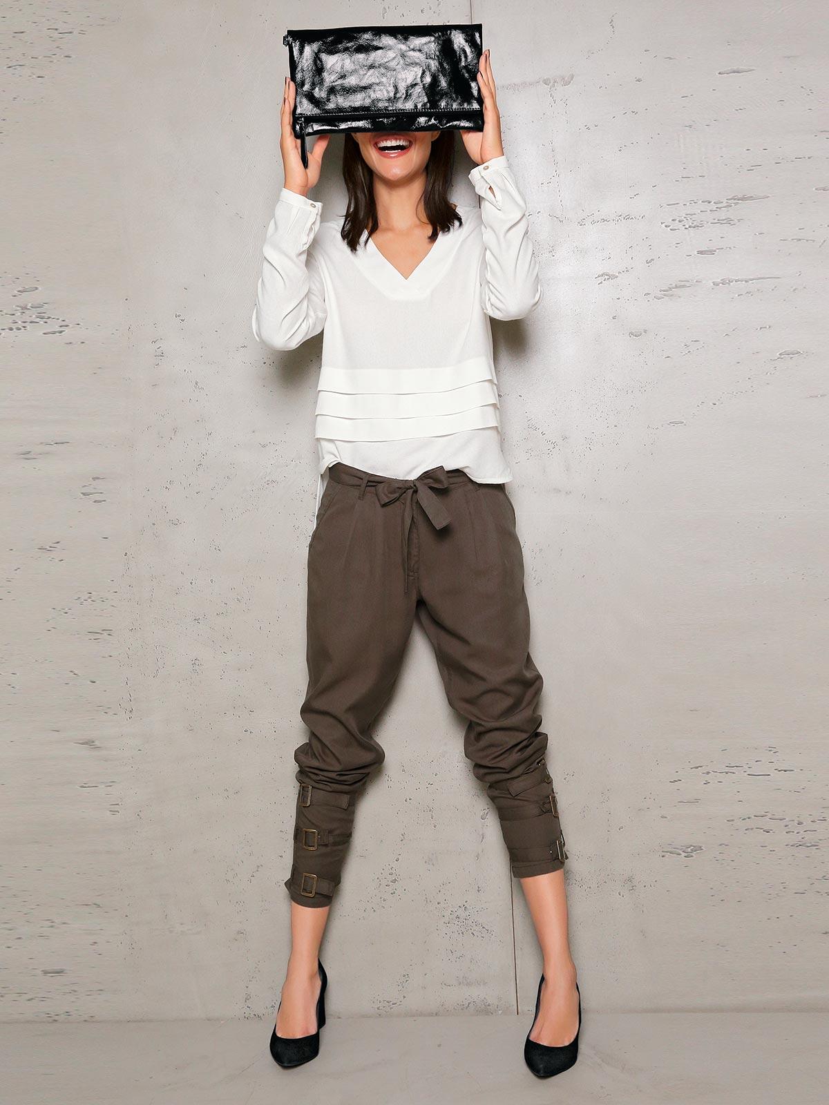 Safari-Hose in der Trendfarbe Khaki