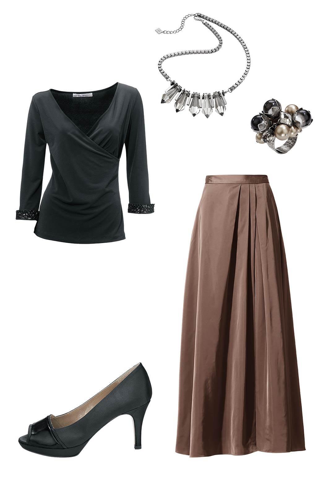 Outfit_silvester_dezent_schlicht_langer_Rock