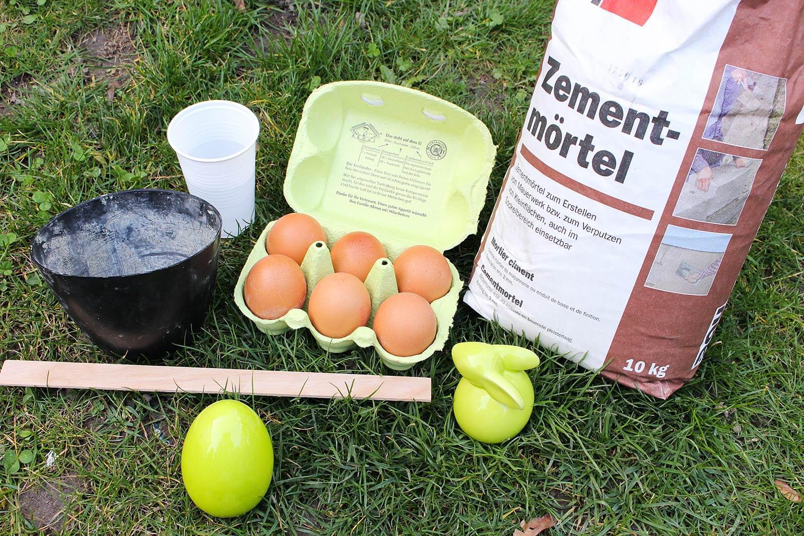 Material für die Beton-Eier