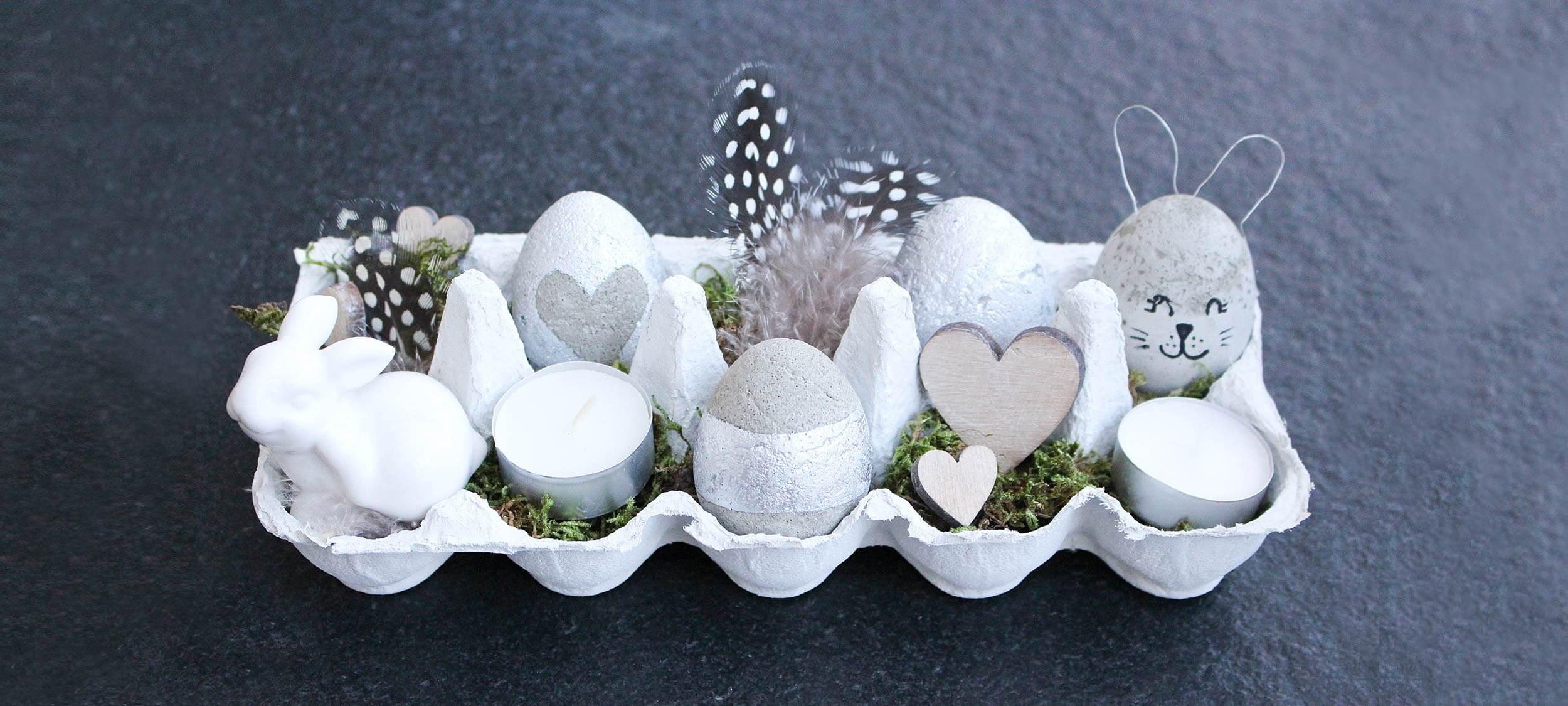 DIY – Hübsche Ostereier aus Beton zum Selbermachen