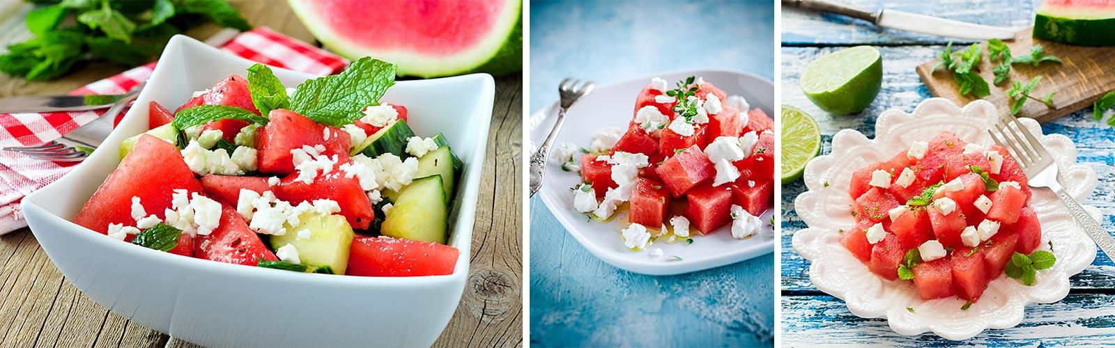 Sommersalate_Wassermelone_Schafskäse