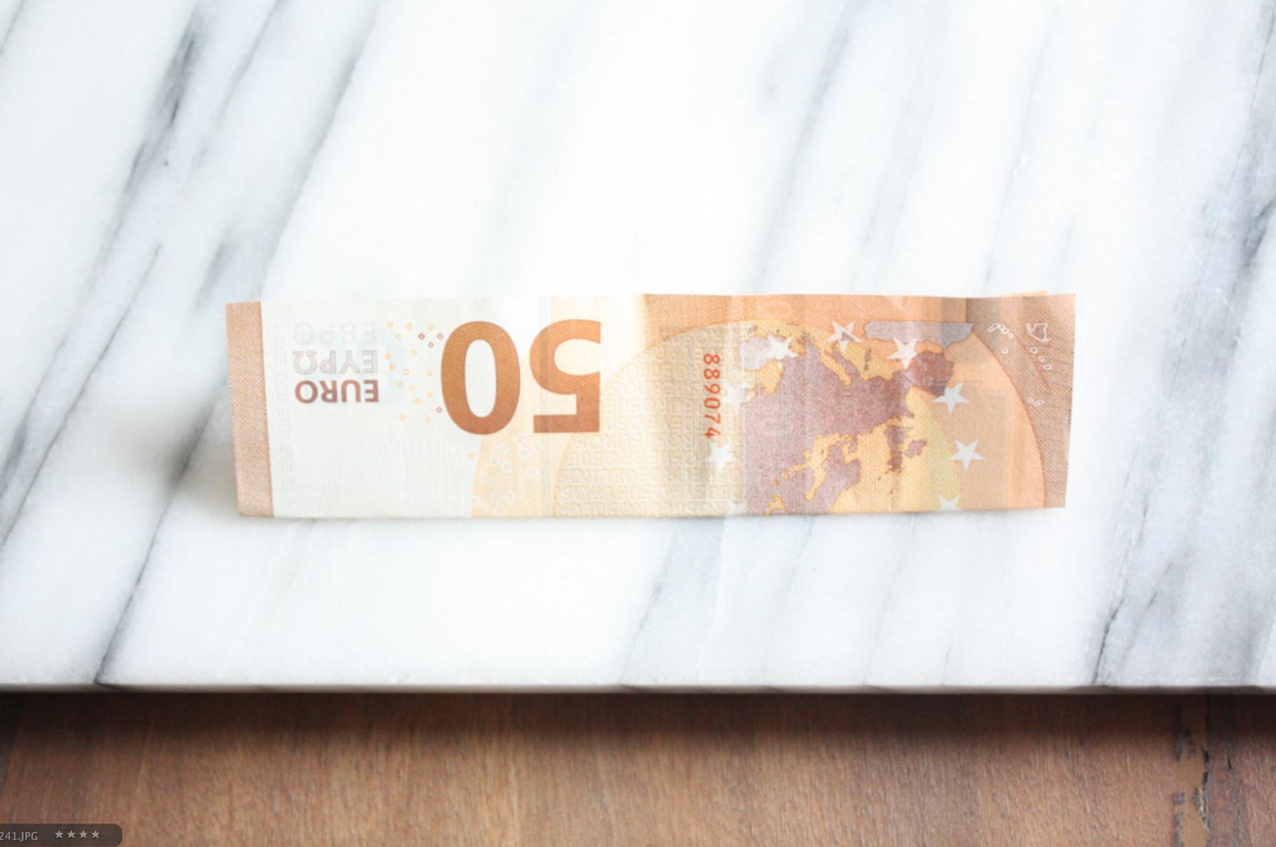 Geldscheine falten: Herz