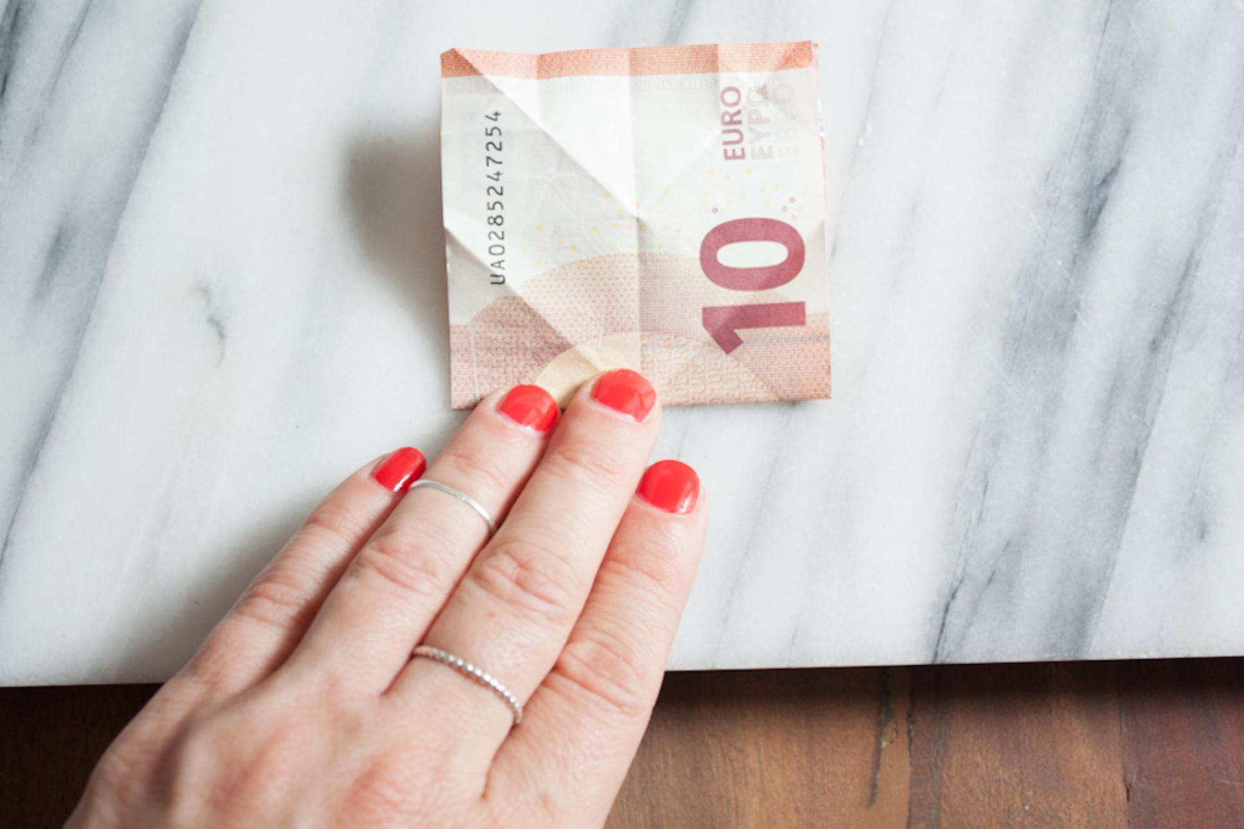 Geldscheine falten: Schweinchen