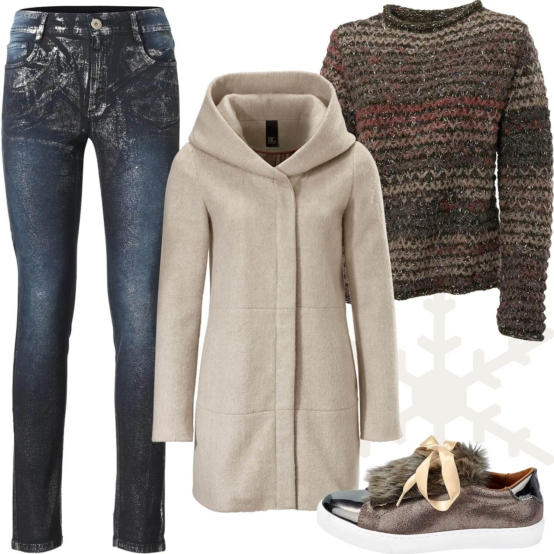 Weihnachtsmarkt-Outfit 5: Natürlich in Erdtönen und Jeans
