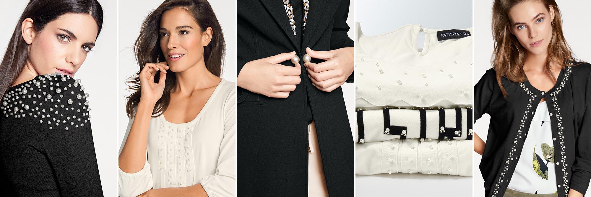Kollage Kleidungsstücke schwarz und chic
