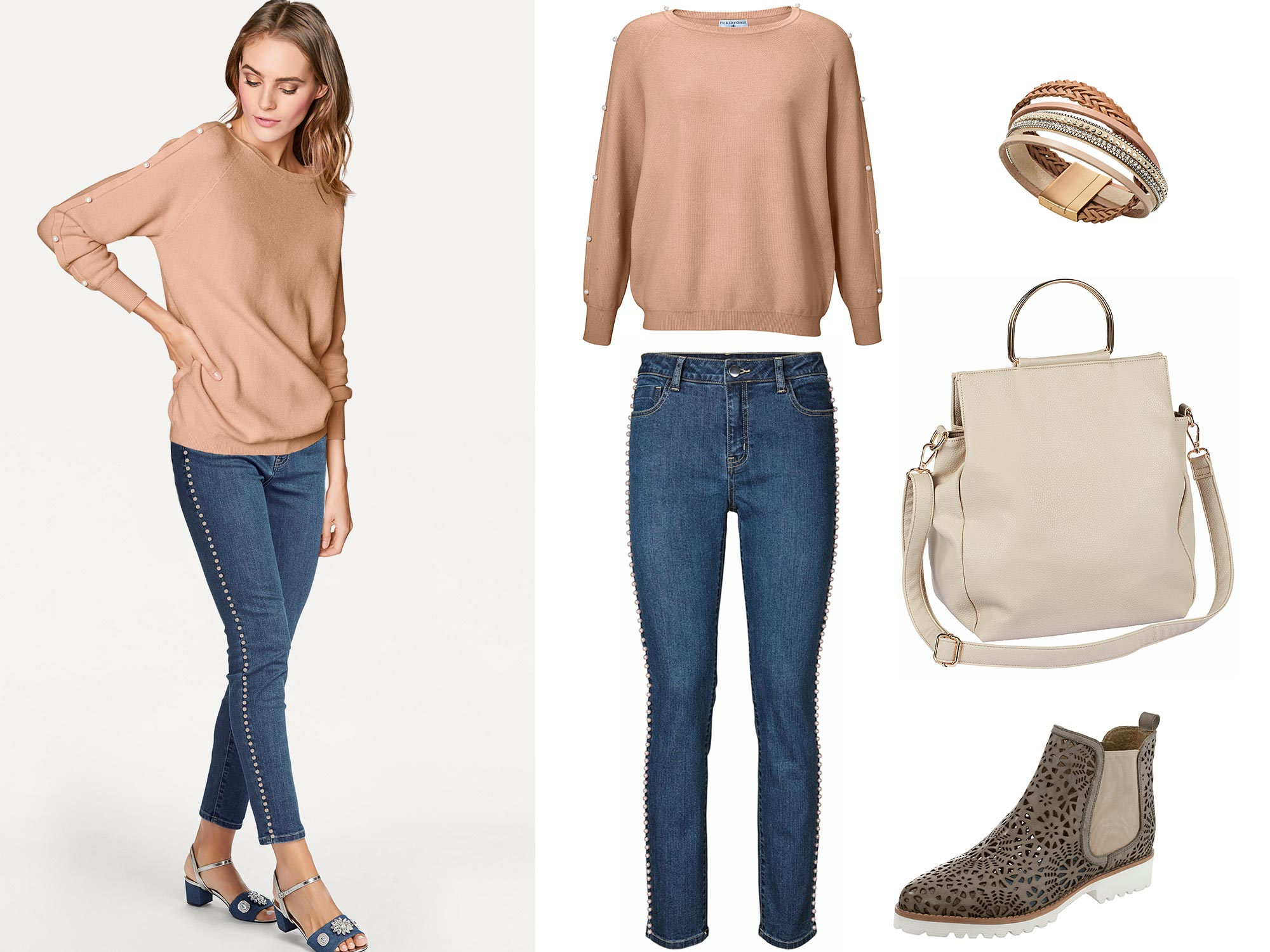 Outfit des Monats Januar, kuscheliger Pullover und Perlen-Jeans