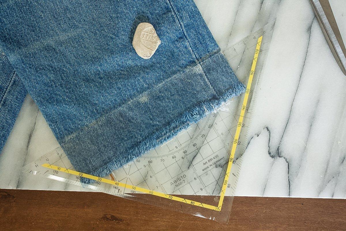 DIY Jeans - Markierung verbinden