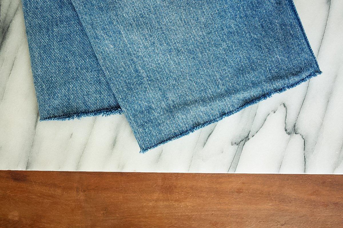 DIY - Jeans mit ausgefranstem Saum