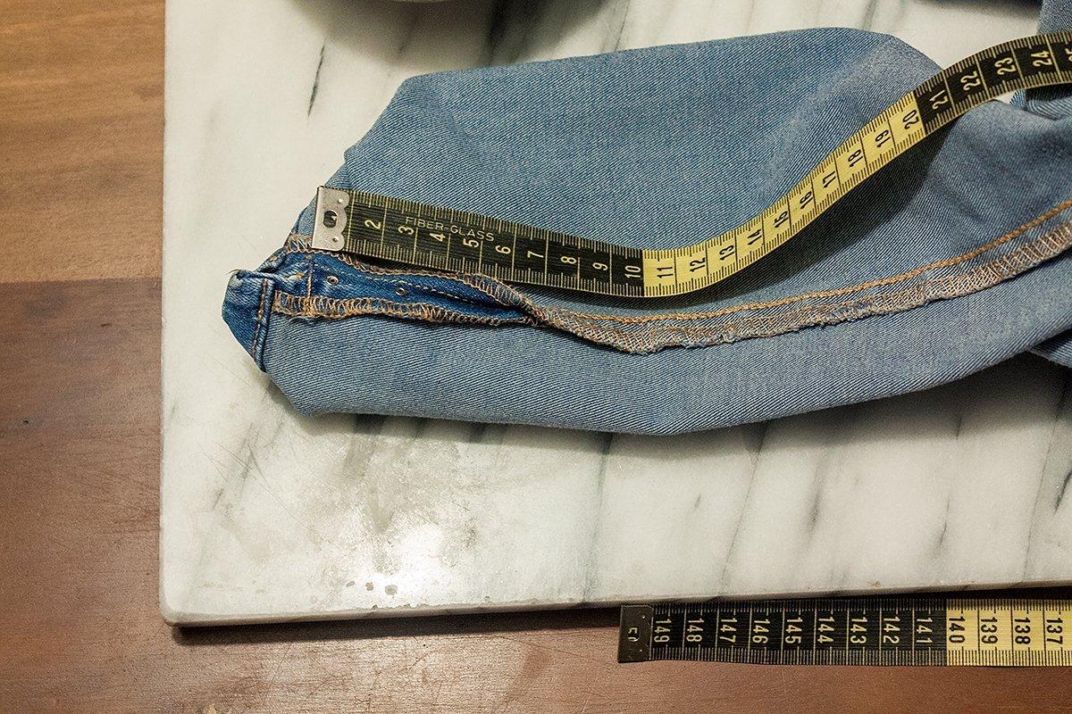 DIY Jeans: Verteilung abmessen