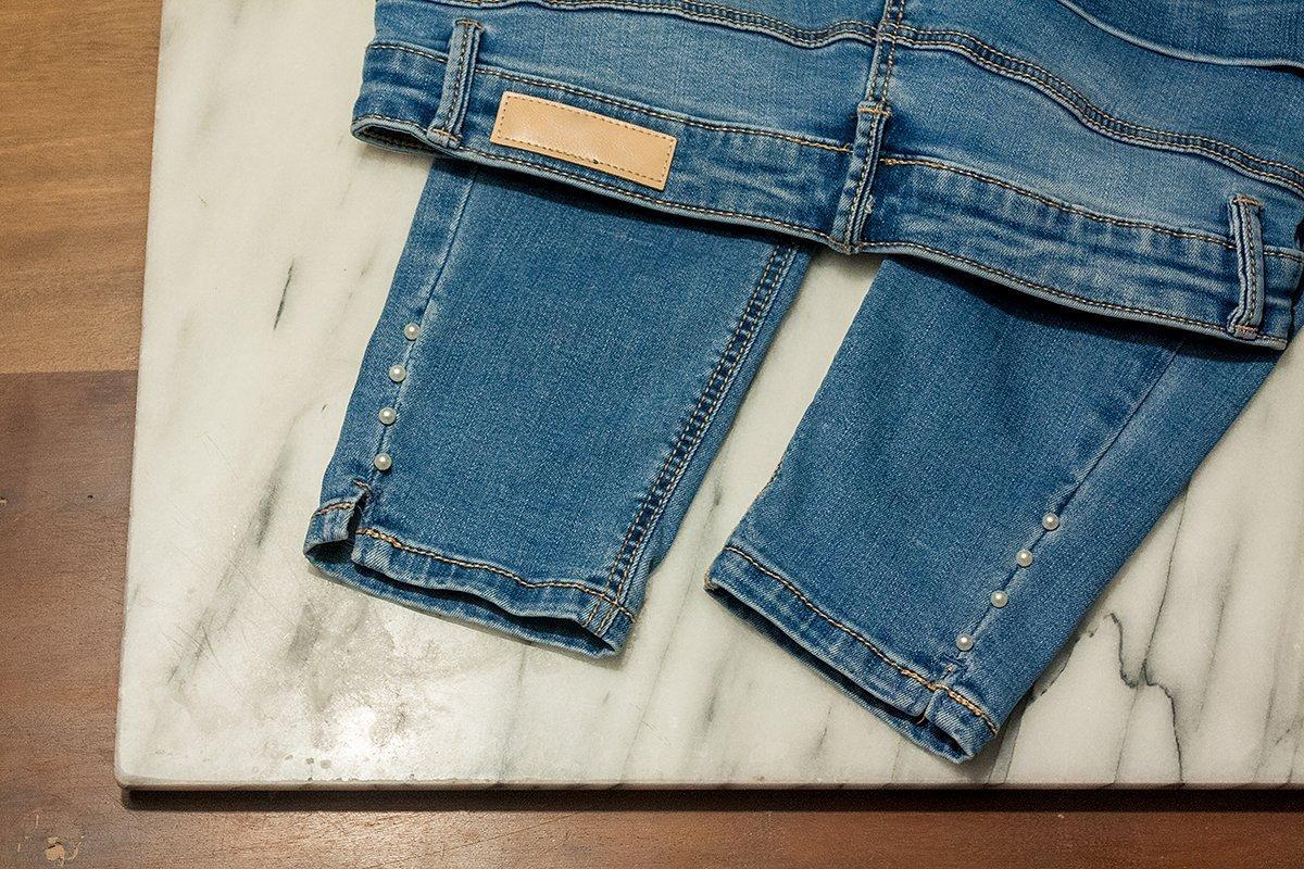 DIY Jeans Schmucksteine
