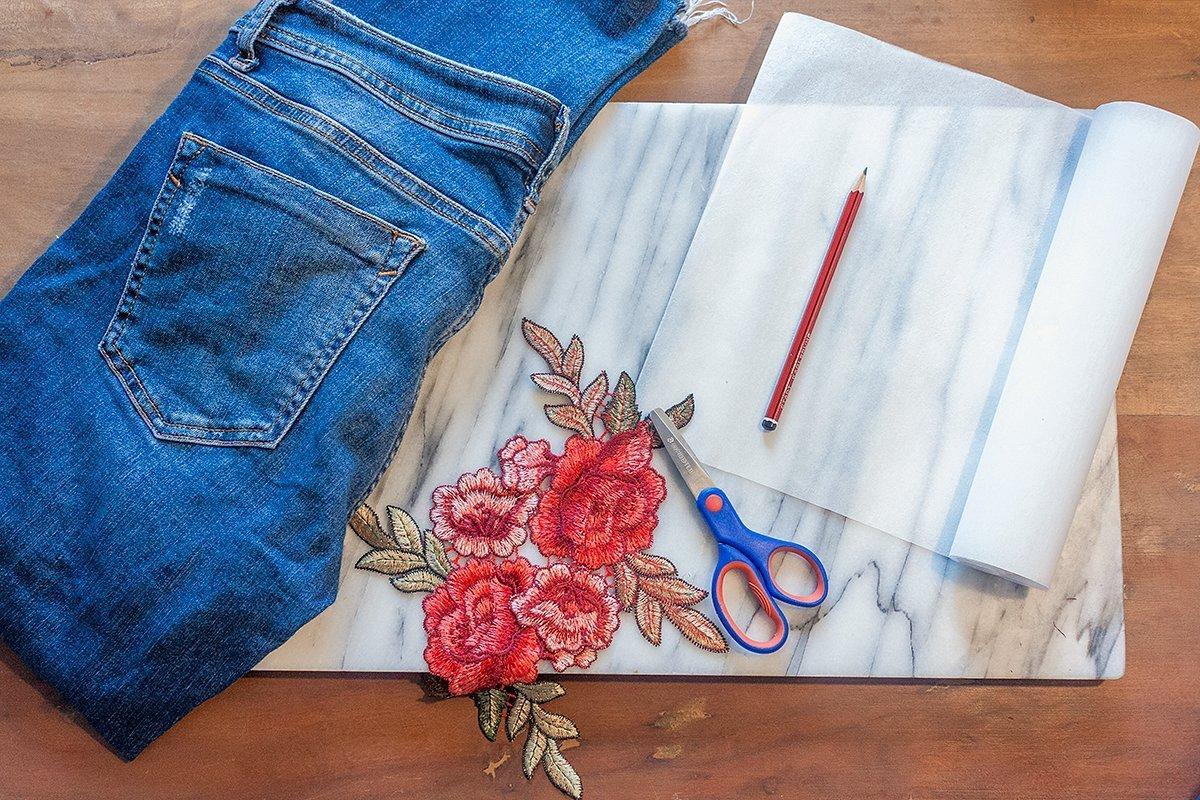 DIY Jeans: Blumenstickerei