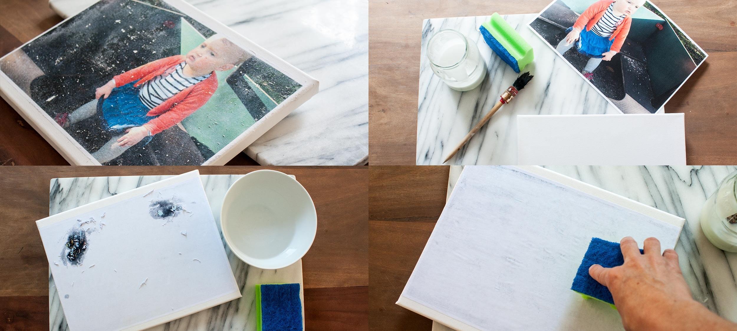 DIY – Foto auf Leinwand übertragen