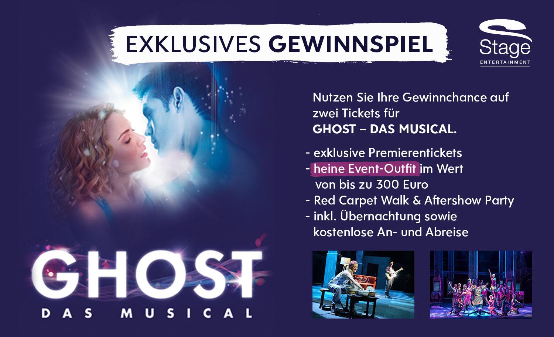 Exklusives Gewinnspiel - zwei Tickets für Ghost - Das Musical.