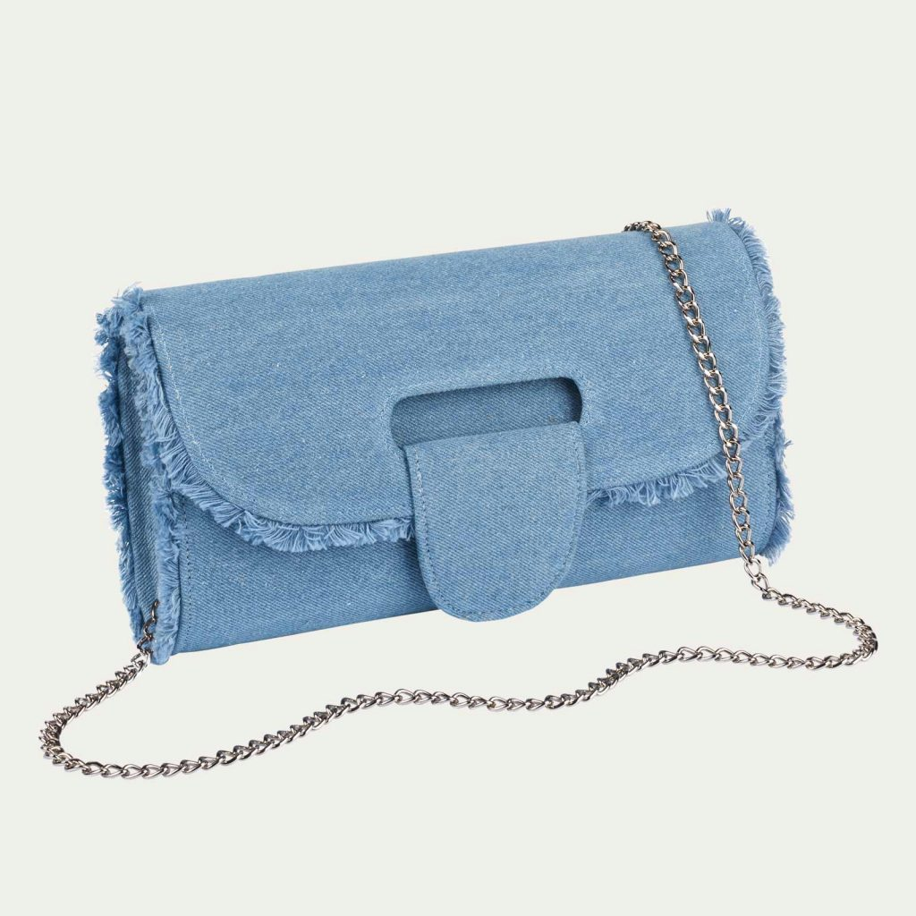 Clutch im Jeans-Look