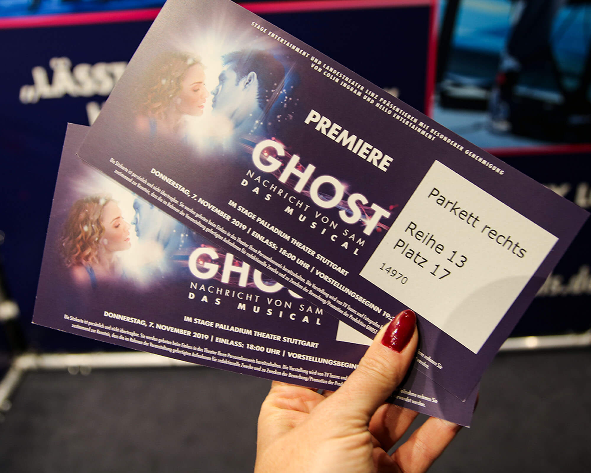 Tickets Premiere Ghost