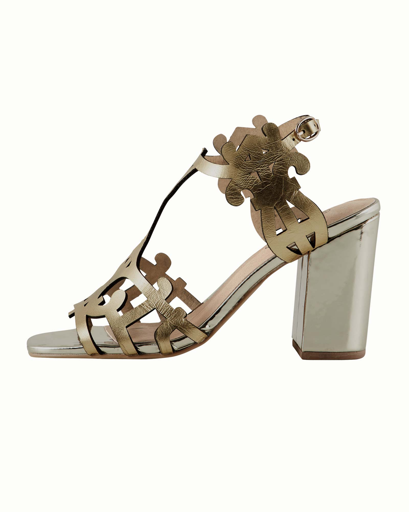 Sandalette mit Muster