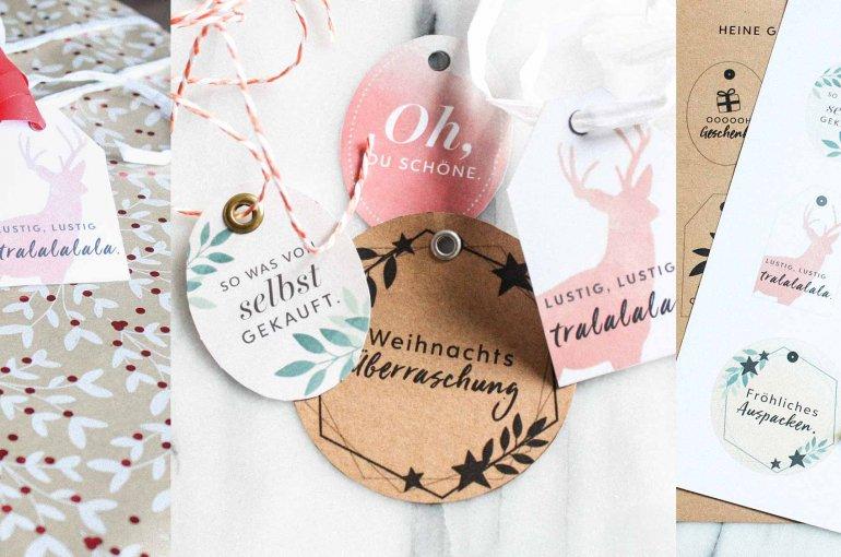Geschenk-Anhänger zu Weihnachten