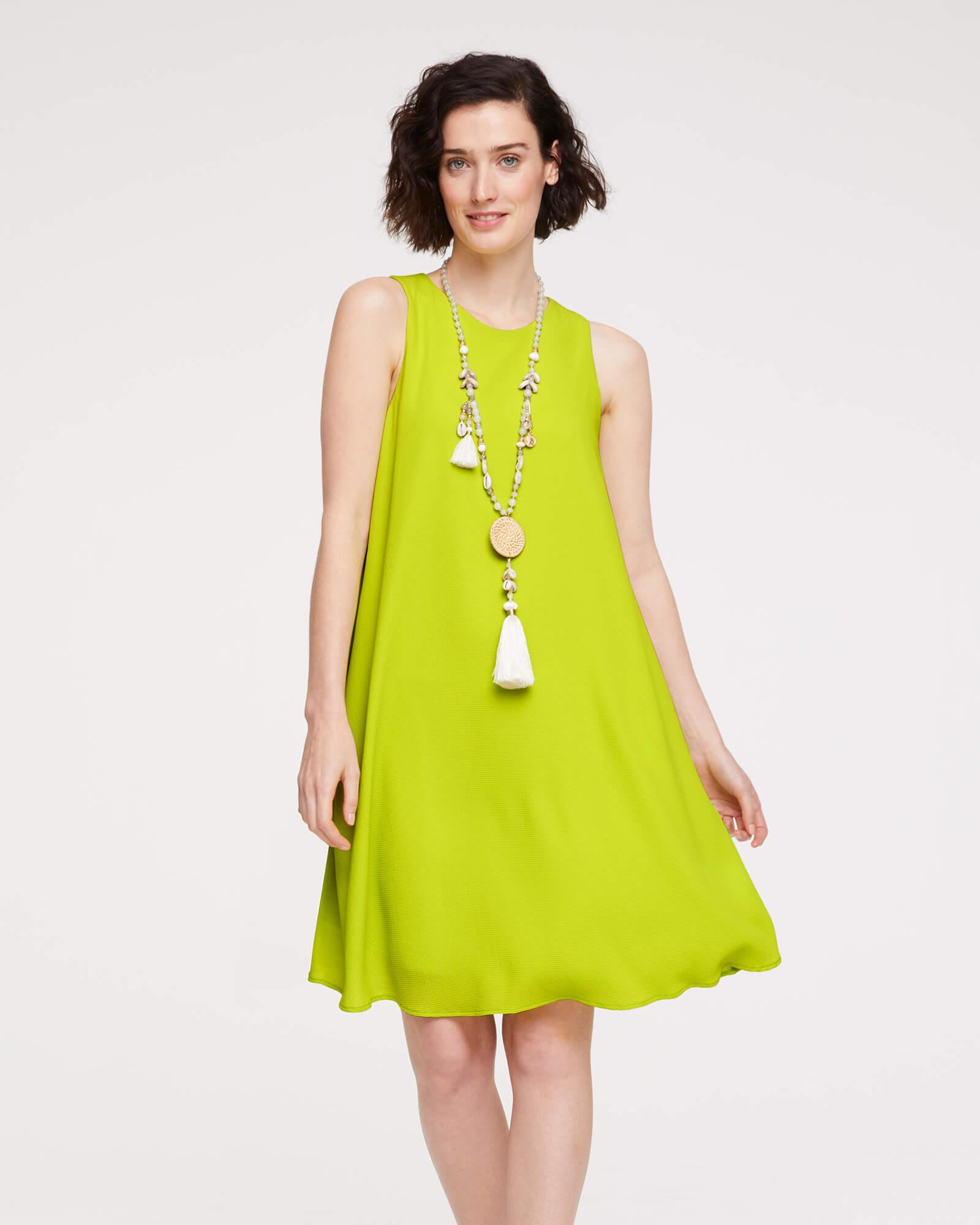 Kurzes Frühlingskleid in Limone
