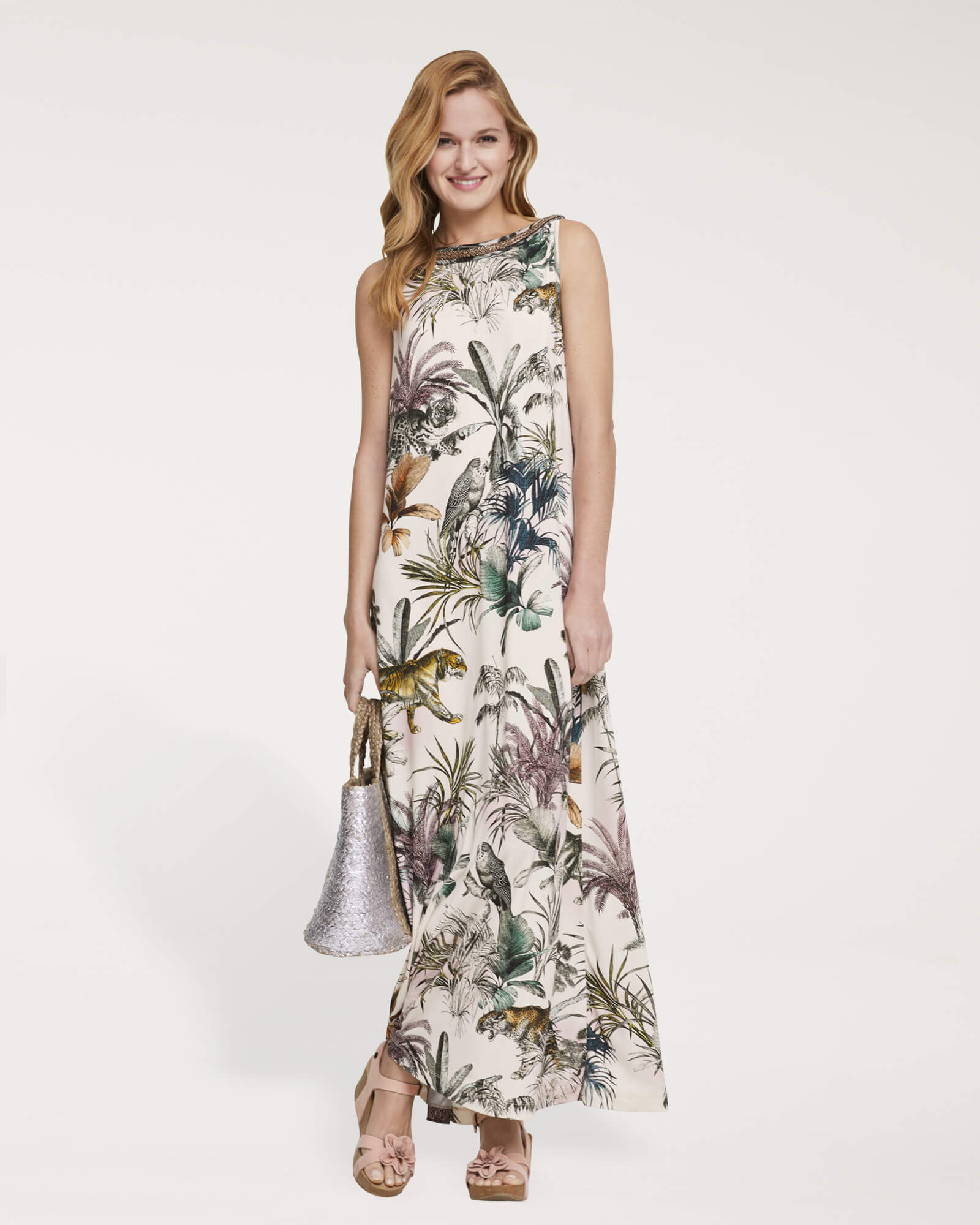 Maxikleid mit Tropical Prints