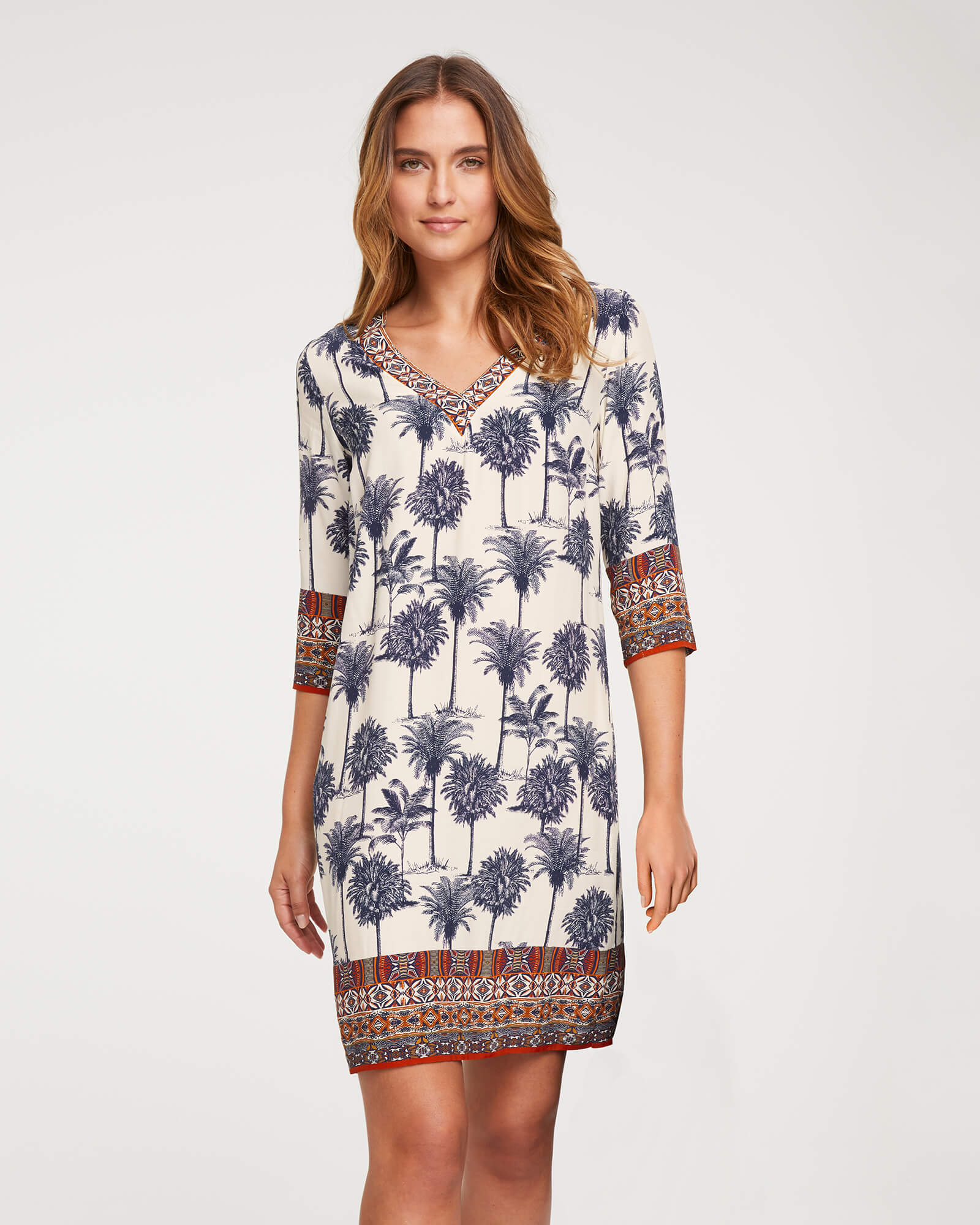 Kleid mit Palmenprint