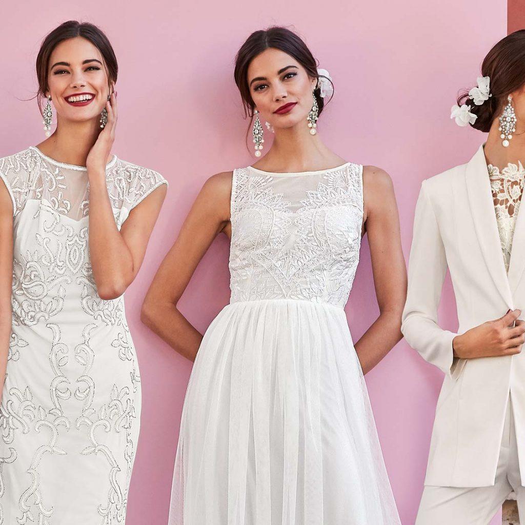 weißes kleid als hochzeitsgast