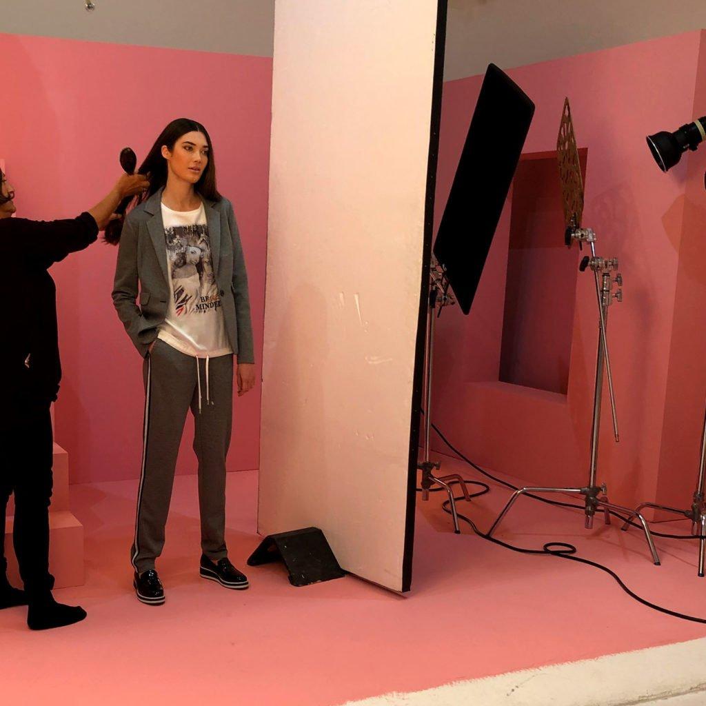 Model im Studio