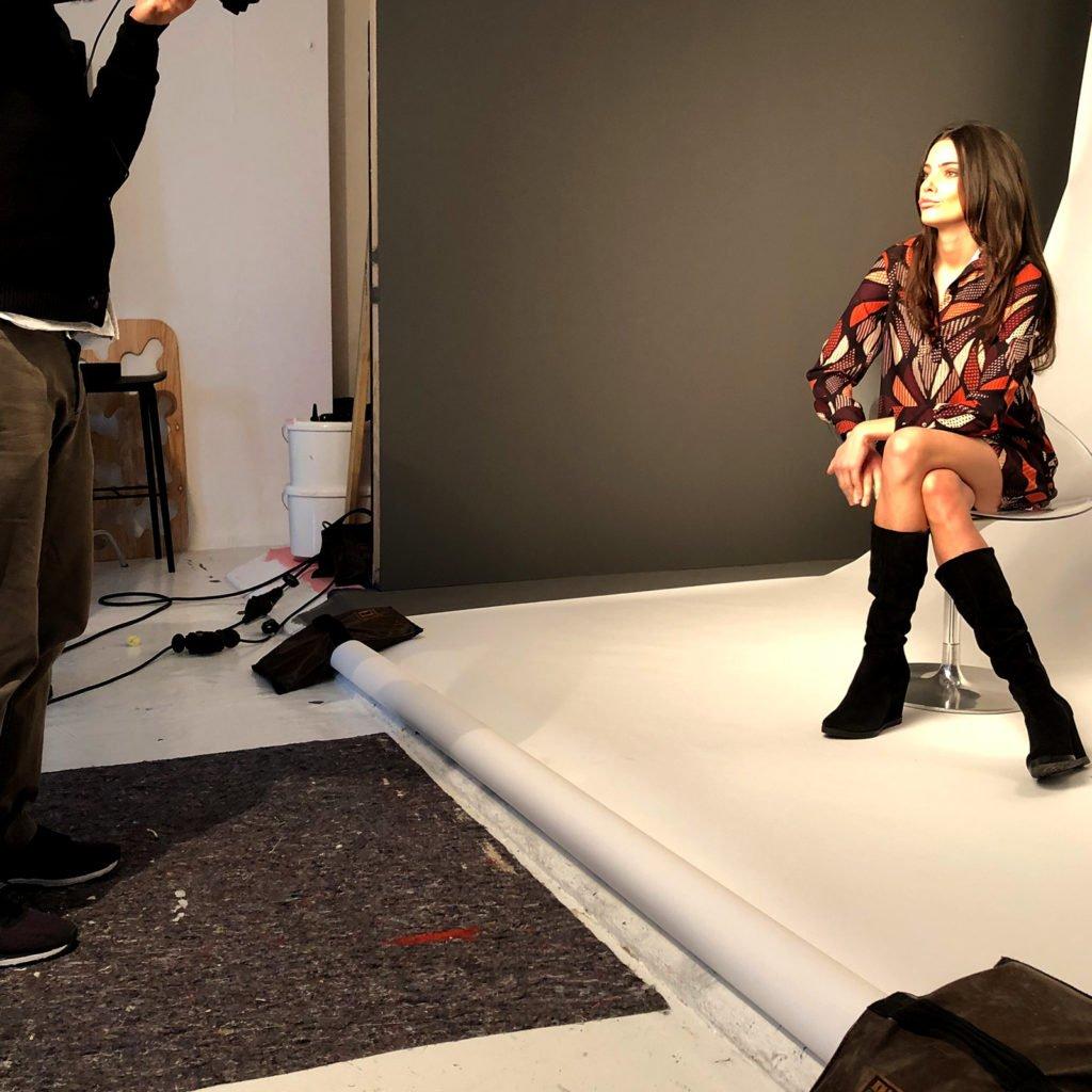 Model beim Shooting