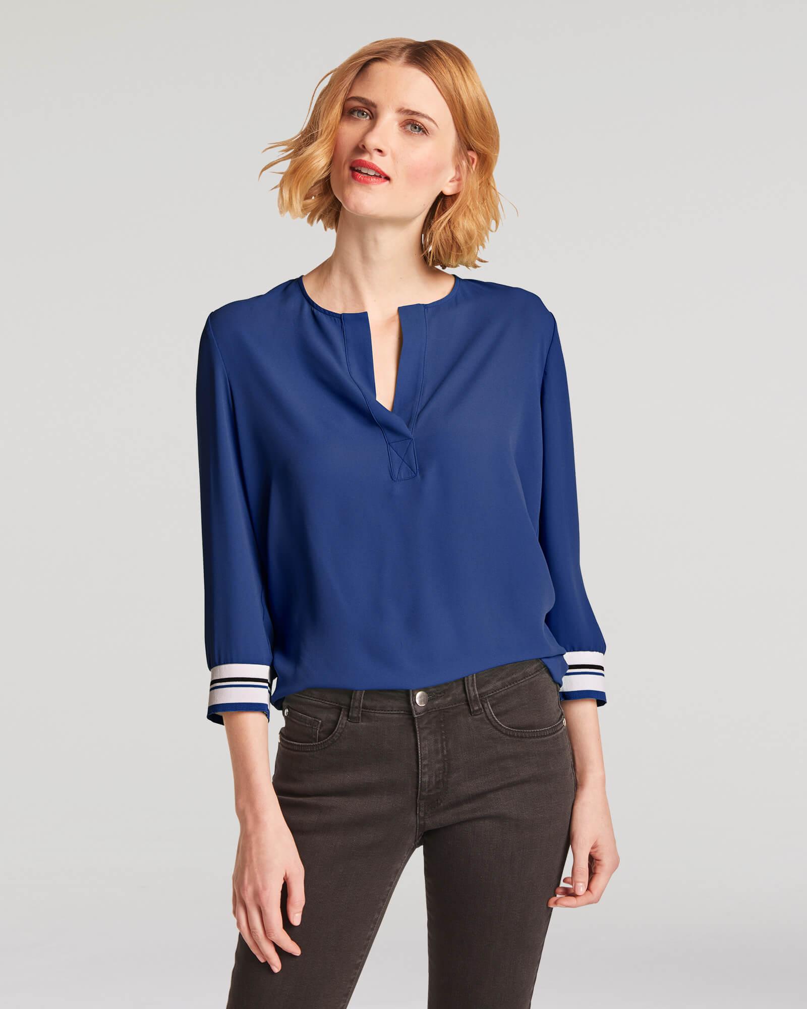 sportliche Bluse Blau