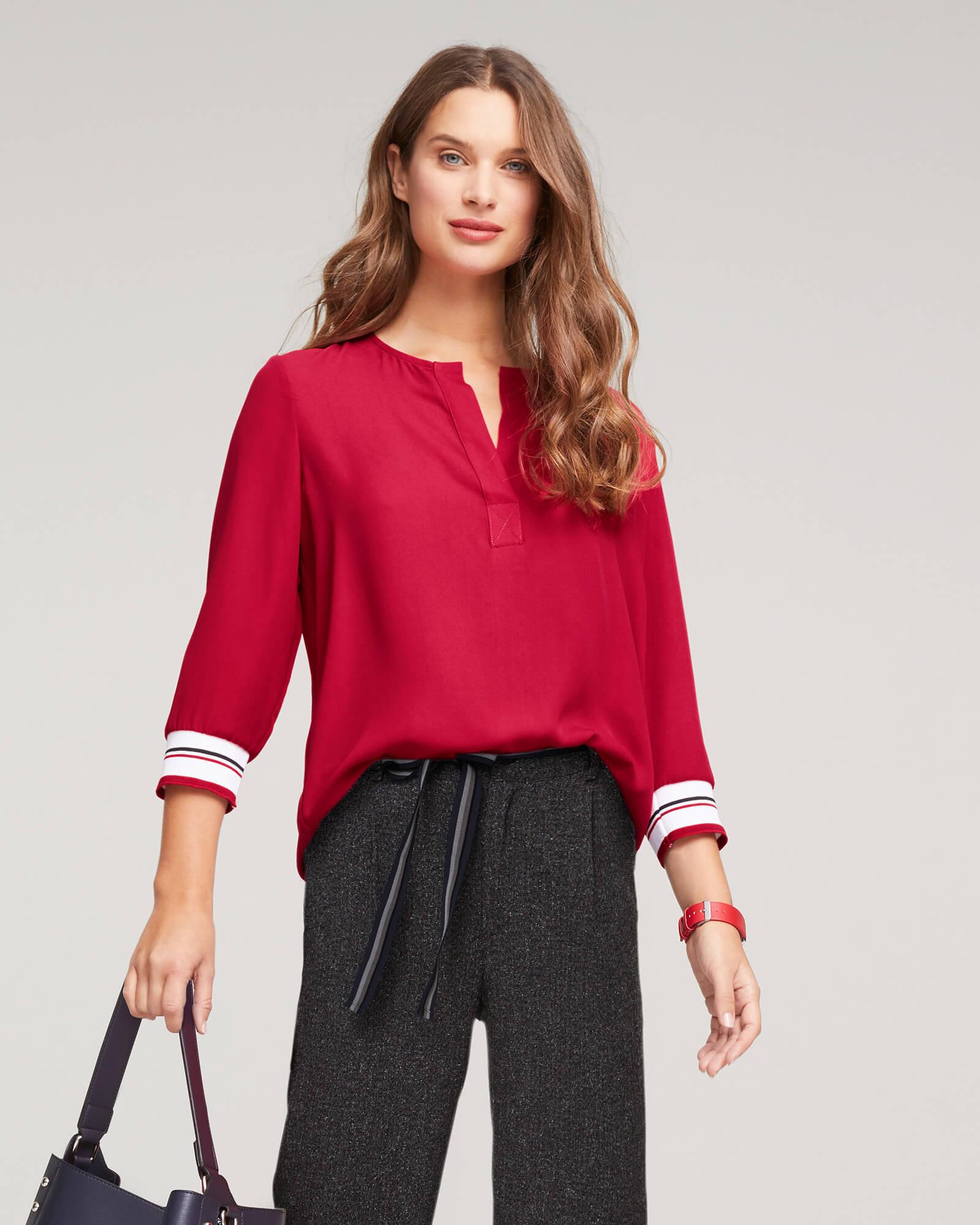 sportliche Bluse rot