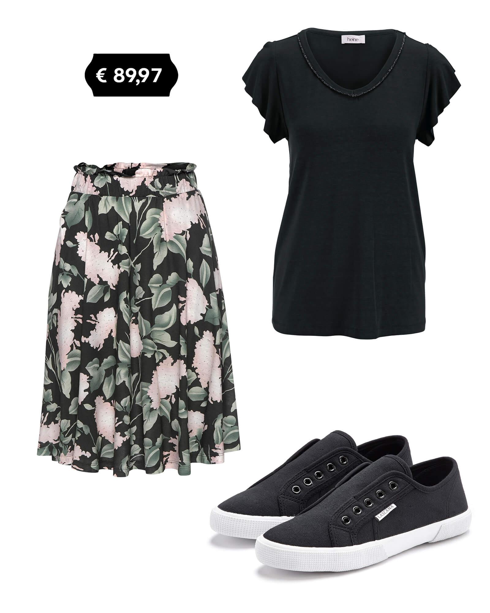 Outfit Blumen-Rock