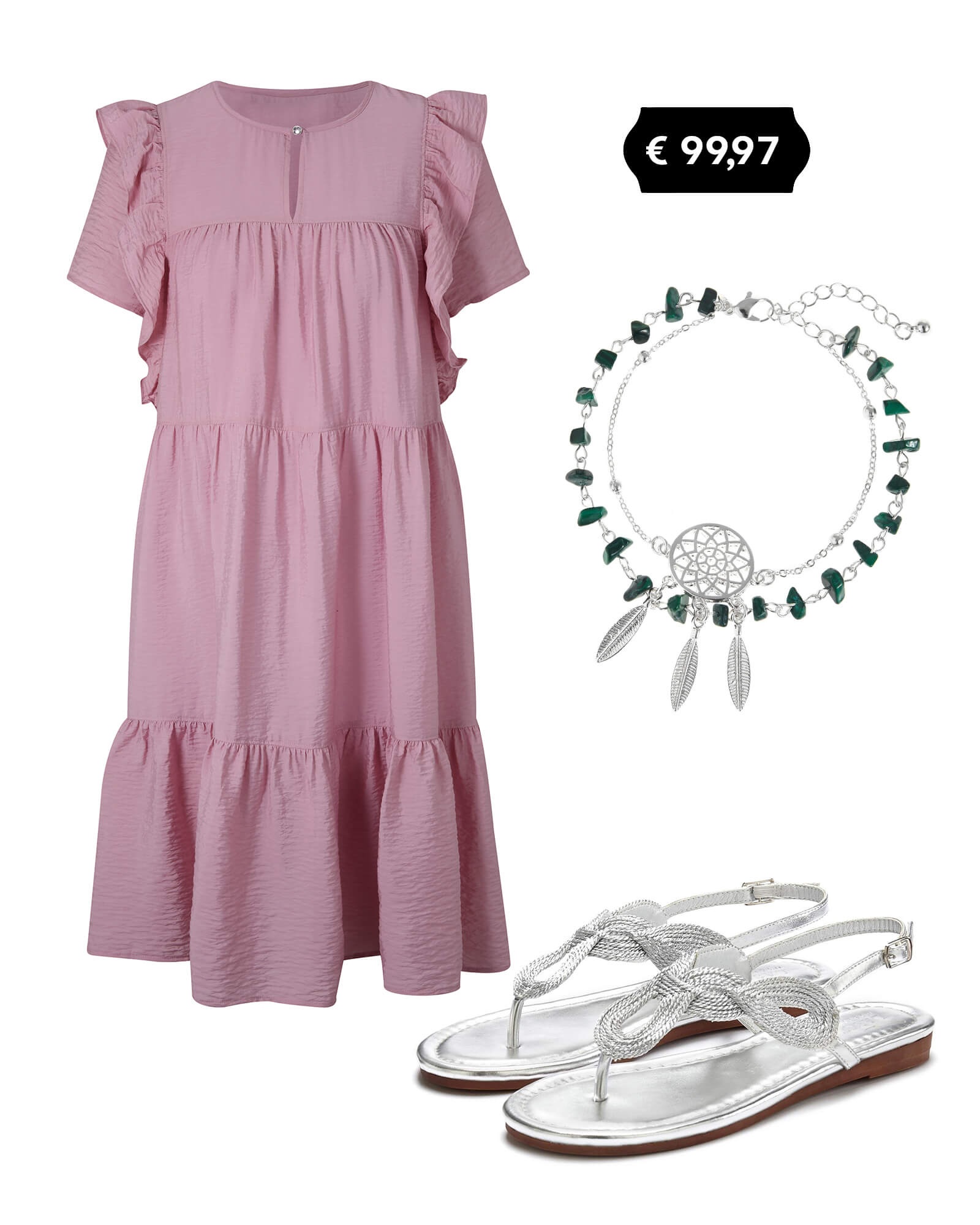 Outfit Kleid lila