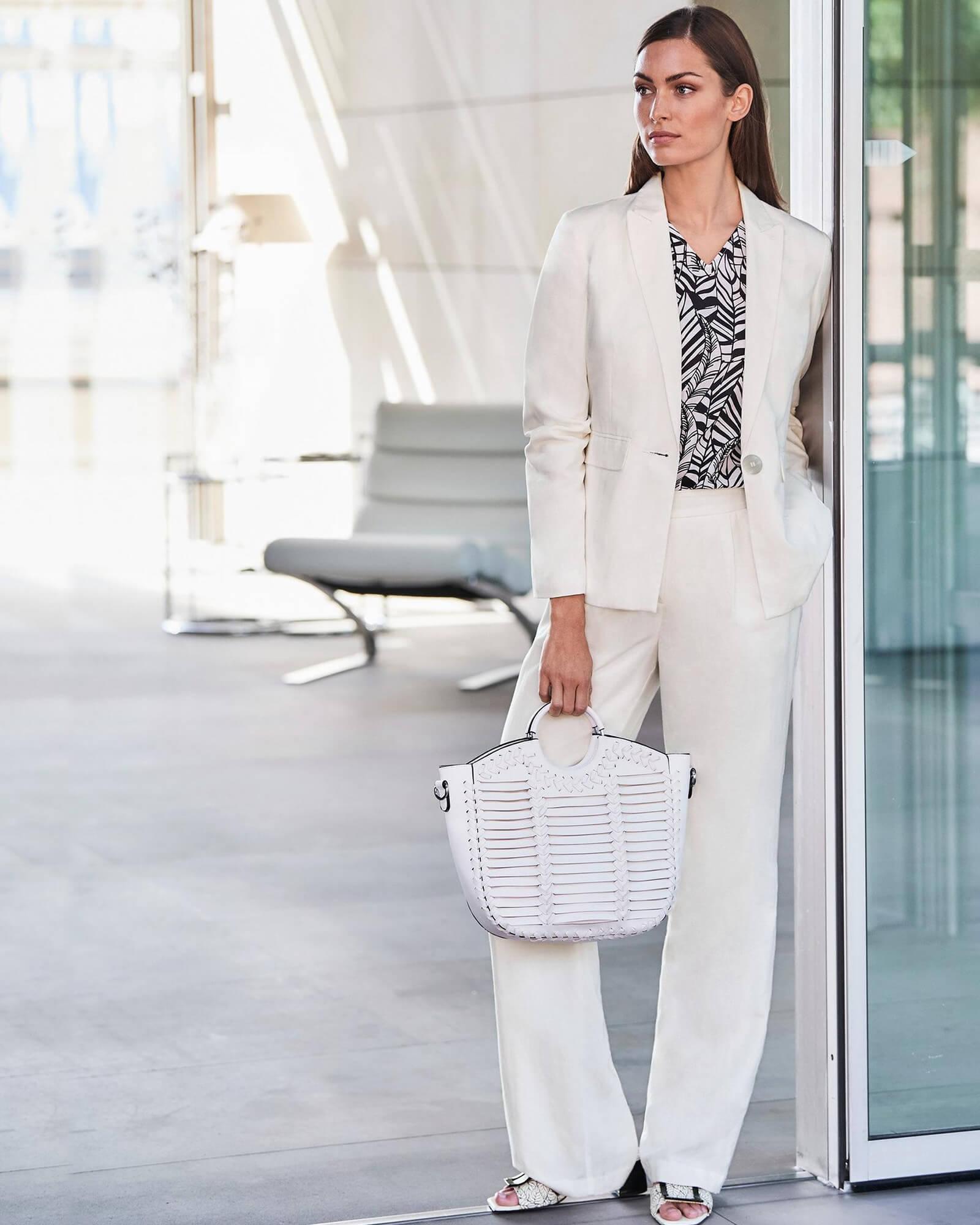 Leinen Anzug Weiß